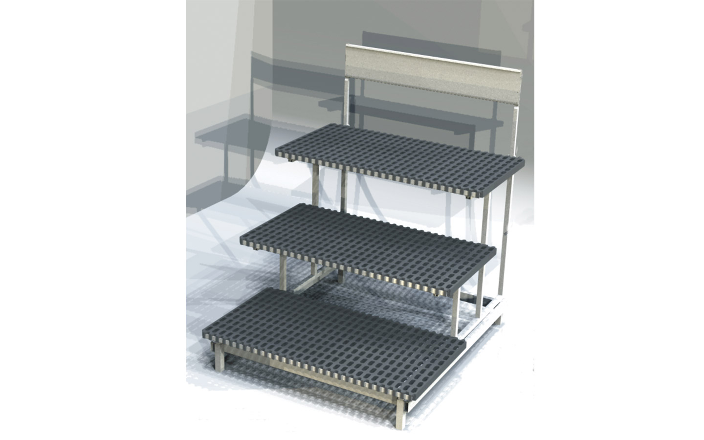 Stair Display 3 Step Plastic Sdr4440 3p Outfront