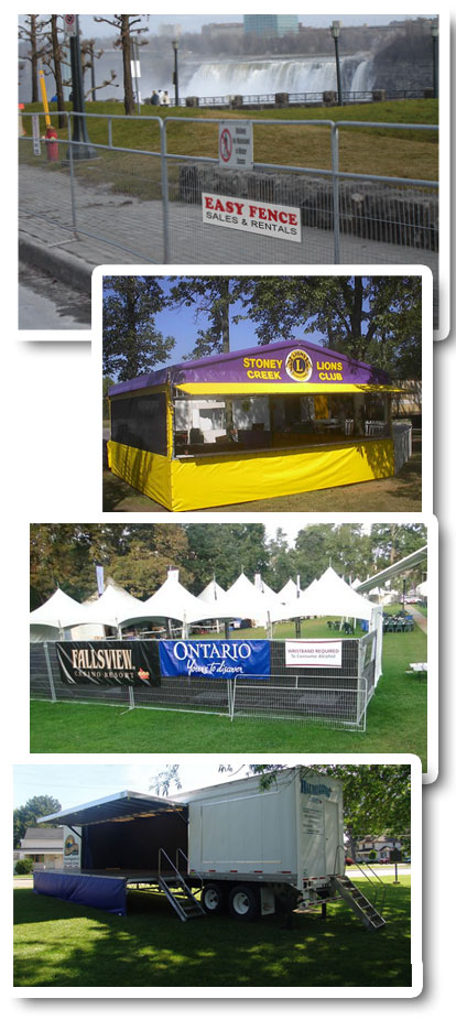 Special Events Fencing, Tents, Stages