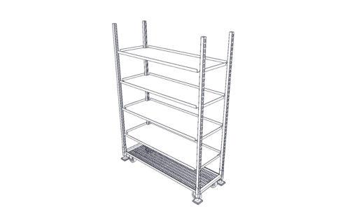M2259C-shelf-cart